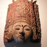 Antique wooden decorative mask