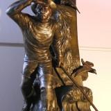 Collectible Figurine bronze vases - Fisherman