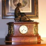 antique marble clock mantelpiece