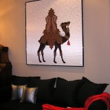 Print on silk fabric - Royal Camel