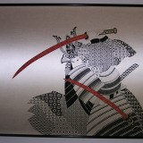 Print on silk fabric - Samurai