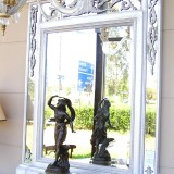 White patinated mirror - [sp19682]