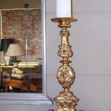 Golden Baroque candle holder