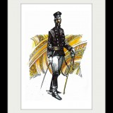 Handmade framed drawing - Officer