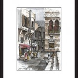 Handmade framed drawing - Morocco