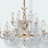 Crystal-porcelain chandelier