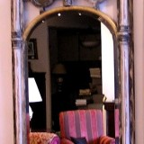 Gothic wooden mirror - [sp19606]