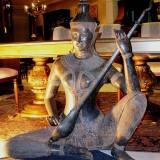 Bronze Sitar player statue