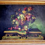 Handmade framed oil painting - Fruit