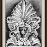 DrawingsHandmade framed pencil drawing - Greek Ornament