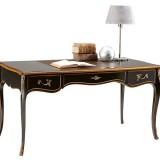 Writing desk in black antique patina [Slv6107-2]